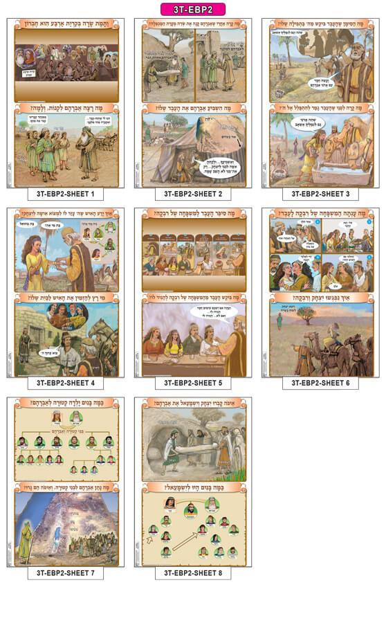 Set of Big Pictures -Tora - Parashat Chayei Sarah (8 sheets)