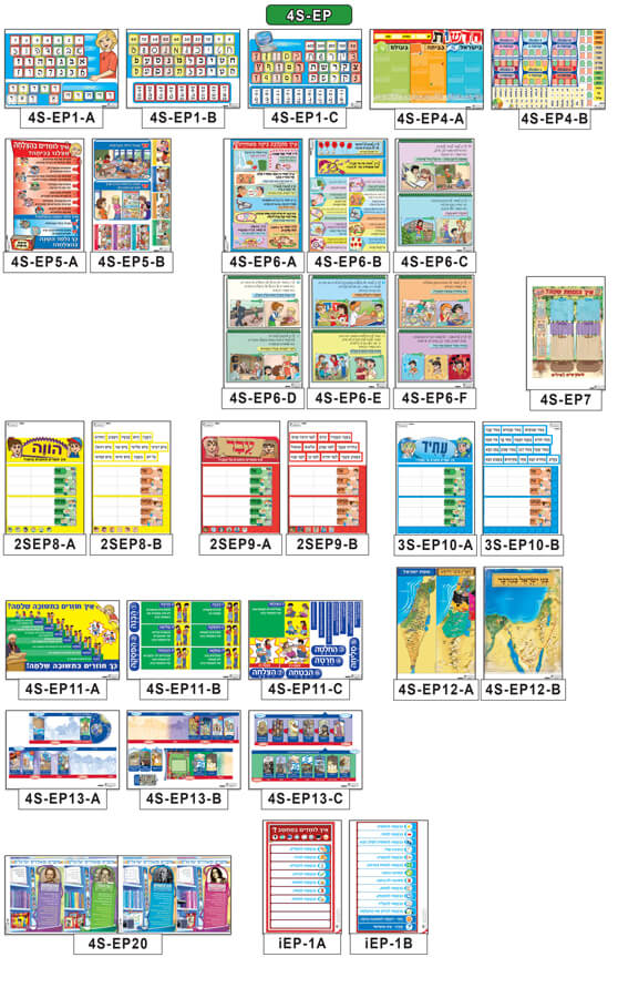 Set of Posters-Everyday Life & Holidays (40 sheets)